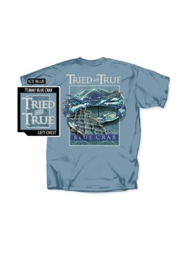 Tried And True Blue Crab Short Sleeve T-shirt