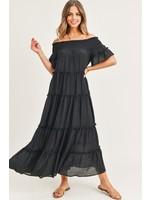 Jodifl Solid Off Shoulder Maxi Dress