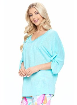 Rolled Sleeve Boxy Top