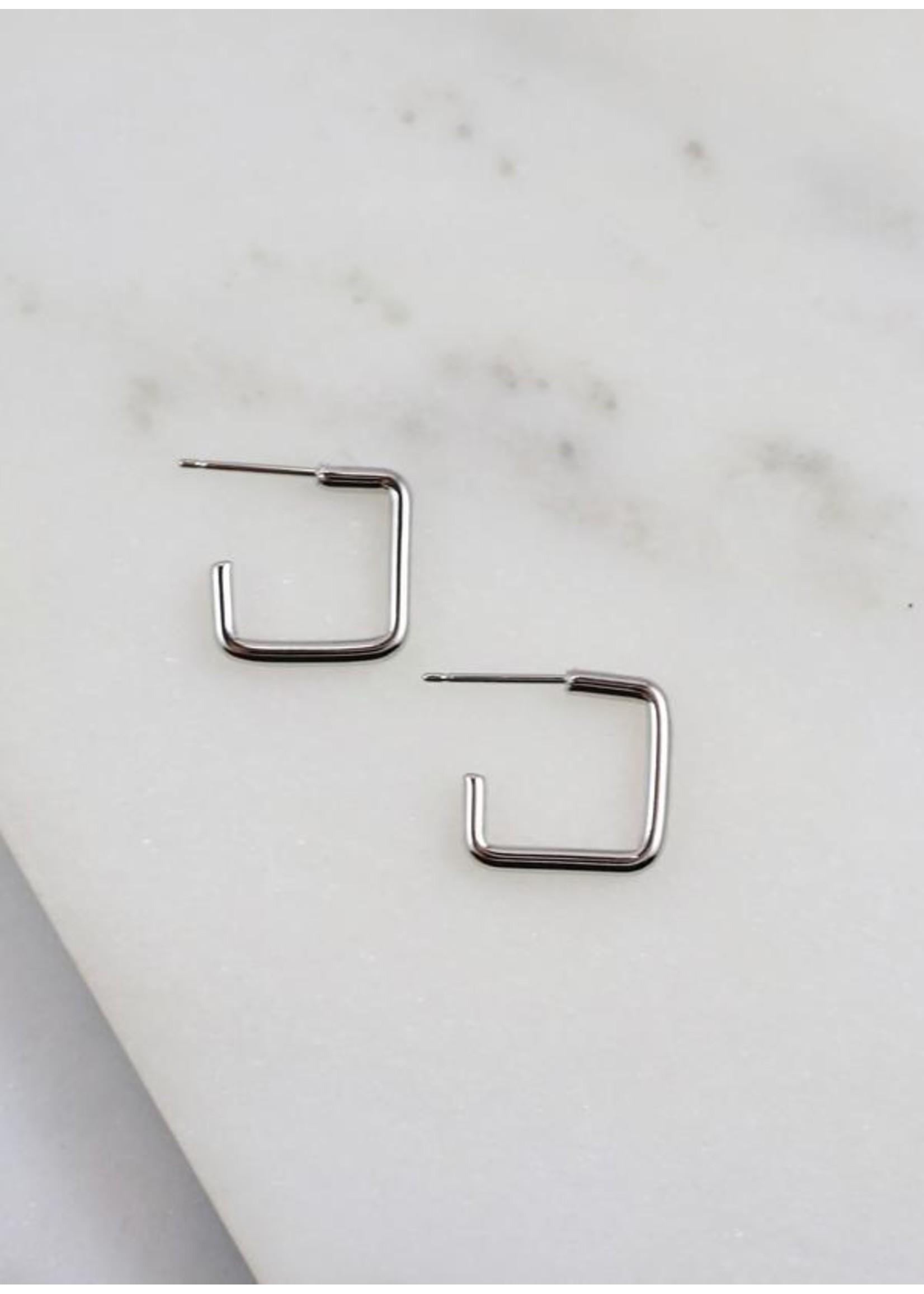 Santa Cruz Square Earring Silver
