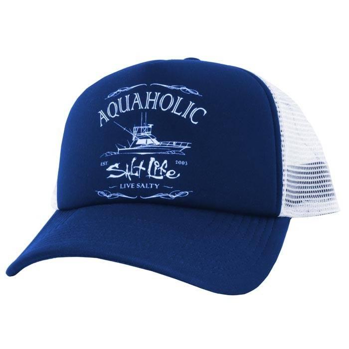 80747393009c78 Salt Life Salt Life Aquaholic Trucker Mesh Hat - King Frog Clothing ...