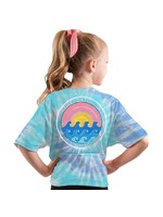 Simply Southern Collection Youth-Saltwater Soul Tie-dye Short Sleeve T-Shirt