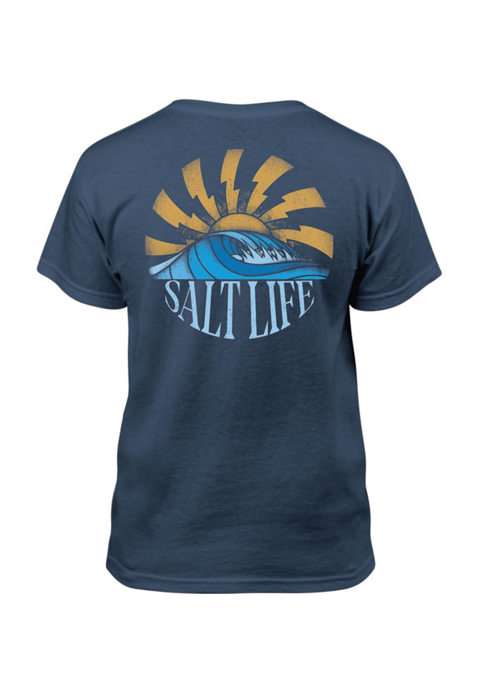 Salt Life Rising Sun Rays Youth Tee