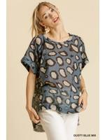 Umgee Animal Print Short Sleeve Top