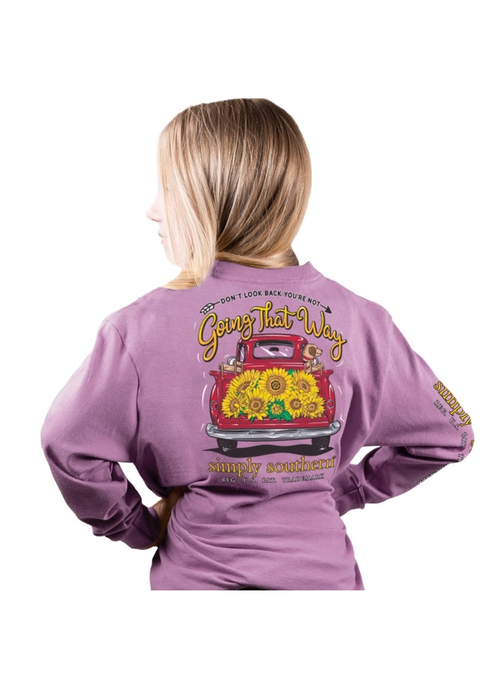 Simply Southern Collection Youth Don't Look Back Long Sleeve T-Shirt