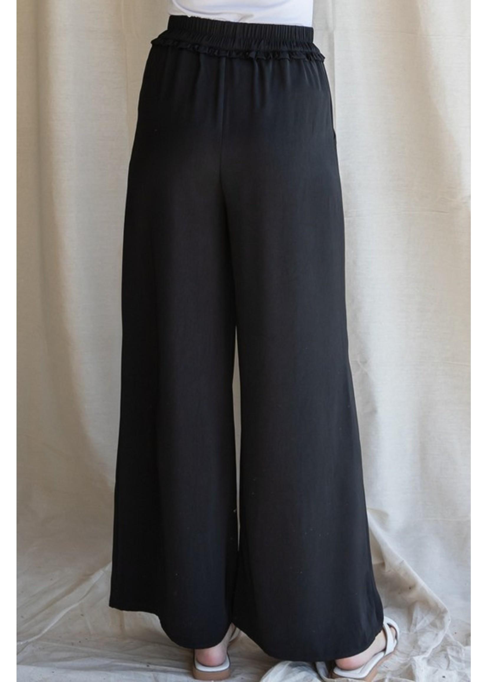 Jodifl Solid Drawstring Loose Pants