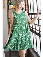 Jodifl Floral Print Sleeveless Baby Doll Dress