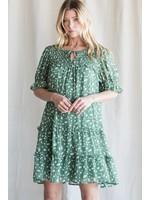 Jodifl Dalmatian Print Smocked Yoke Dress