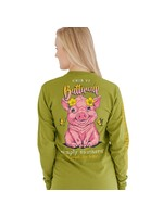 Simply Southern Collection Simply Southern YOUTH CHIN UP BUTTERCUP LONG SLEEVE T-SHIRT