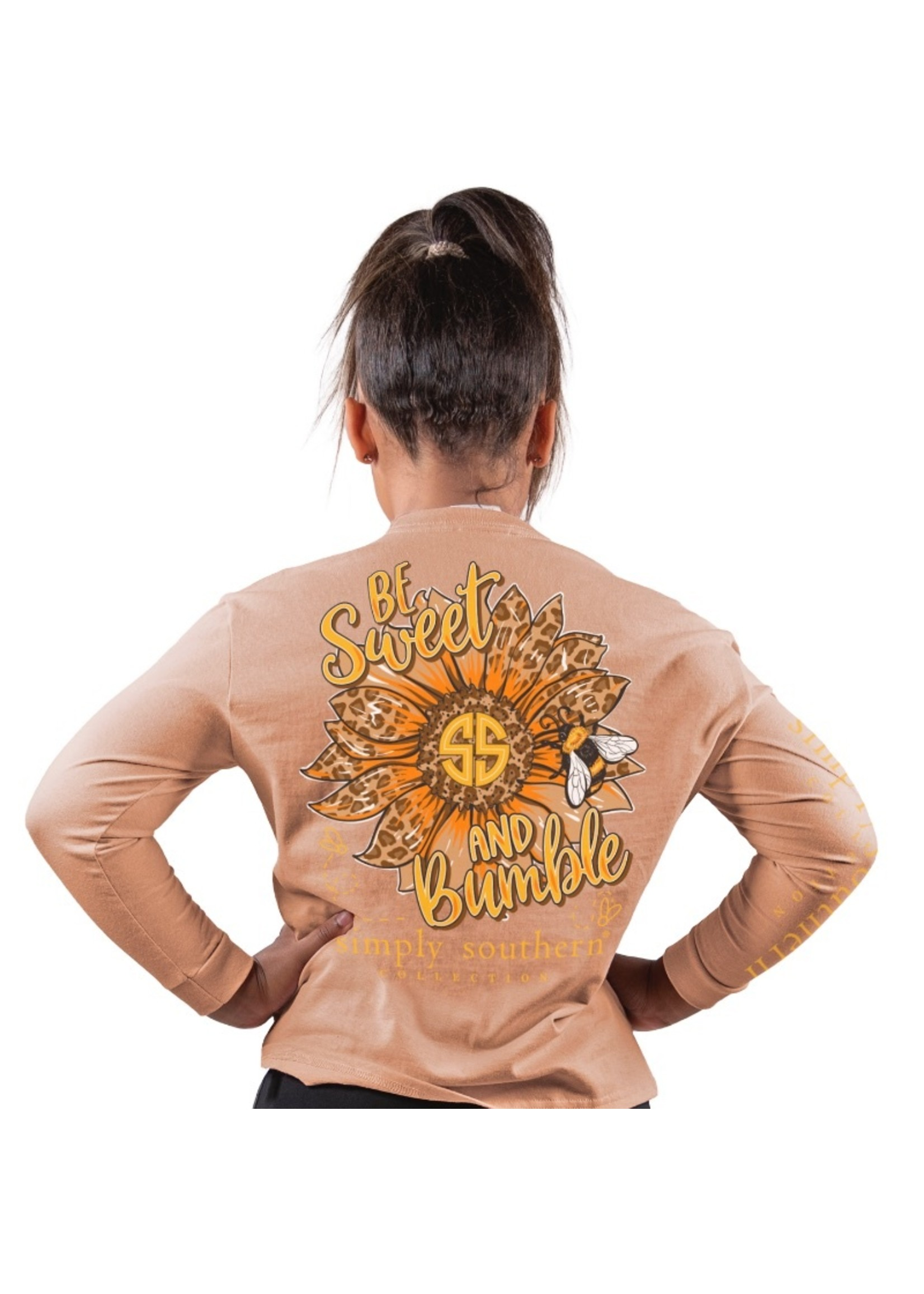 Simply Southern Collection Youth Be Sweet and Bumble Long Sleeve T-Shirt