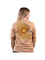 Simply Southern Collection Simply Southern Be Sweet and Bumble Long Sleeve T-Shirt Latte