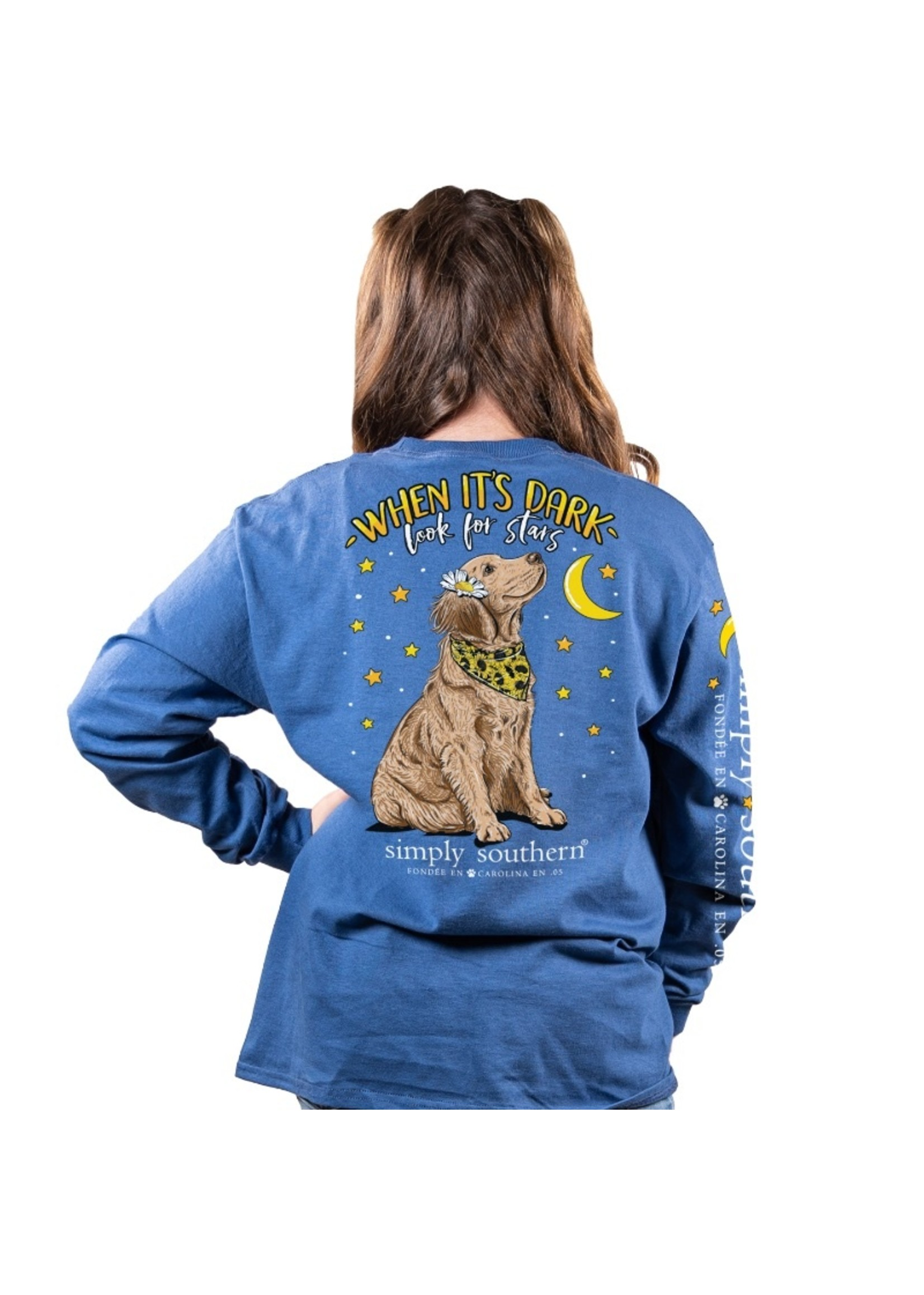 Simply Southern Collection YOUTH When It Is Dark Look For Stars Long Sleeve T-Shirt