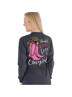 Simply Southern Collection Simply Southern Should Have Been A Cowgirl Long Sleeve T-Shirt