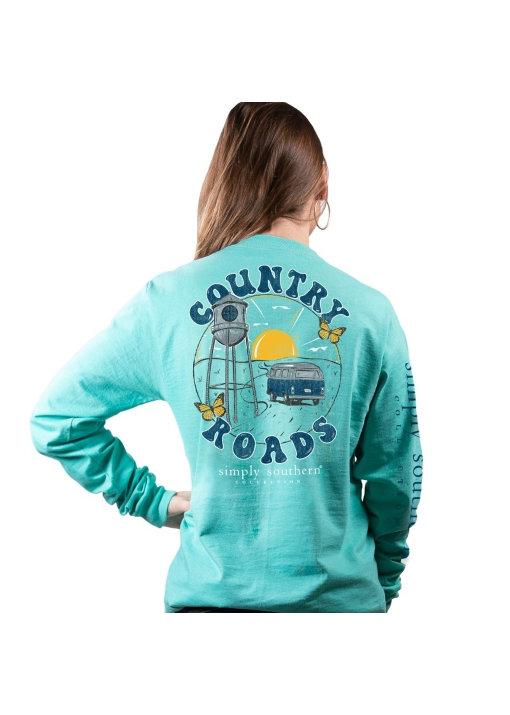 Simply Southern Collection Country Roads Long Sleeve T-Shirt