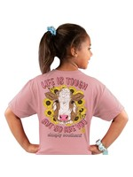 Simply Southern Collection Youth Simply Southern Life is Tough Short Sleeve T-Shirt