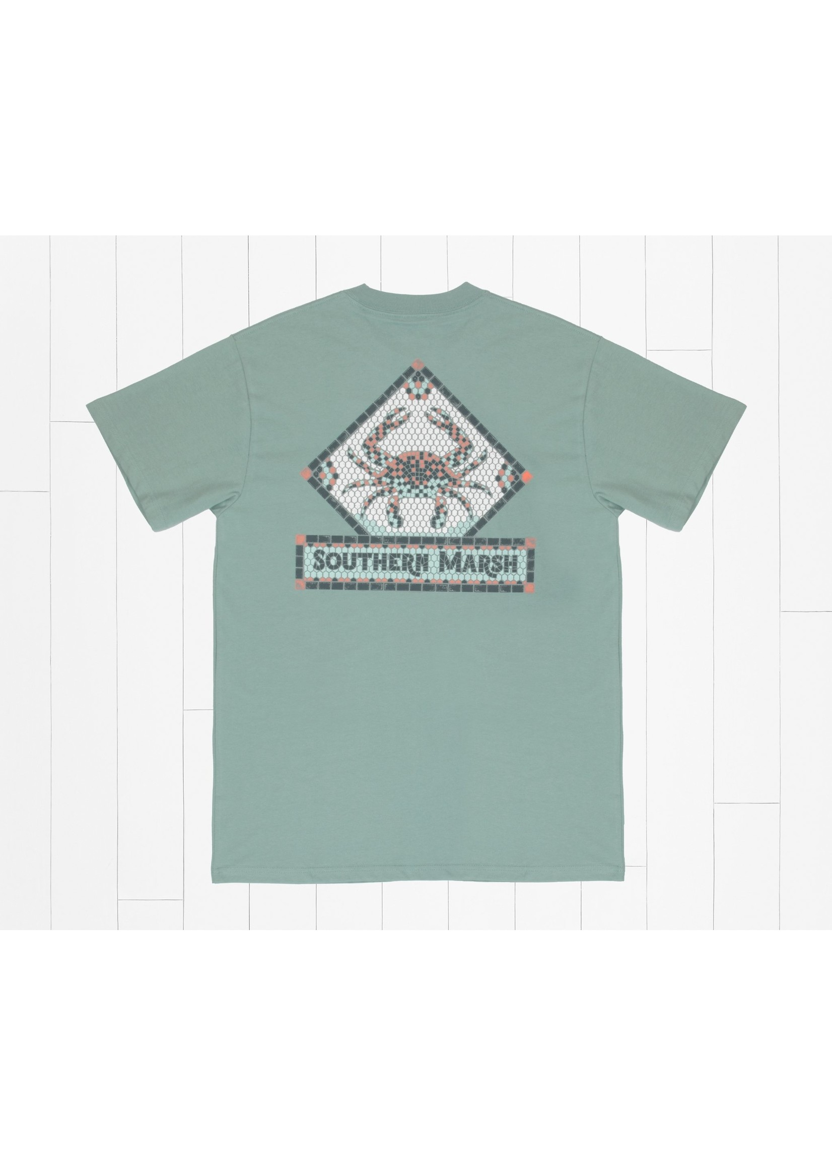 Southern Marsh Mosaic Crab Tee