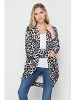 Honeyme Leopard Print Cardigan