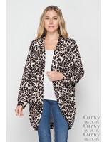 Honeyme Leopard Print Cardigan - PLUS