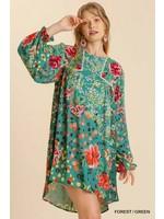 Umgee Crochet Trim Detailed Dress