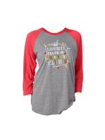 Jane Marie Christmas Lights 3/4 Sleeve T-Shirt
