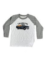 Jane Marie Kid's Thankful Truck 3/4 Sleeve T-Shirt