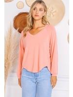 Charlotte Avery Ribbed V-Neck Sweater