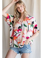 Jodifl Abstract V-Neck Top
