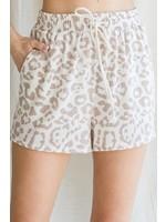 Jodifl Leopard Print Drawstring Shorts