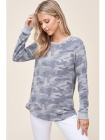 Staccato Round Neck Long Sleeve Top