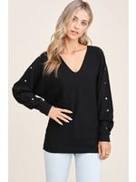 Staccato V-Neck Pullover Sweater