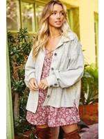 Ces Femme Oversized Button-Down Jacket