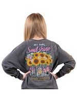 Simply Southern Collection Youth Let Your Soul Shine Long Sleeve T-Shirt - Dark Heather Gray
