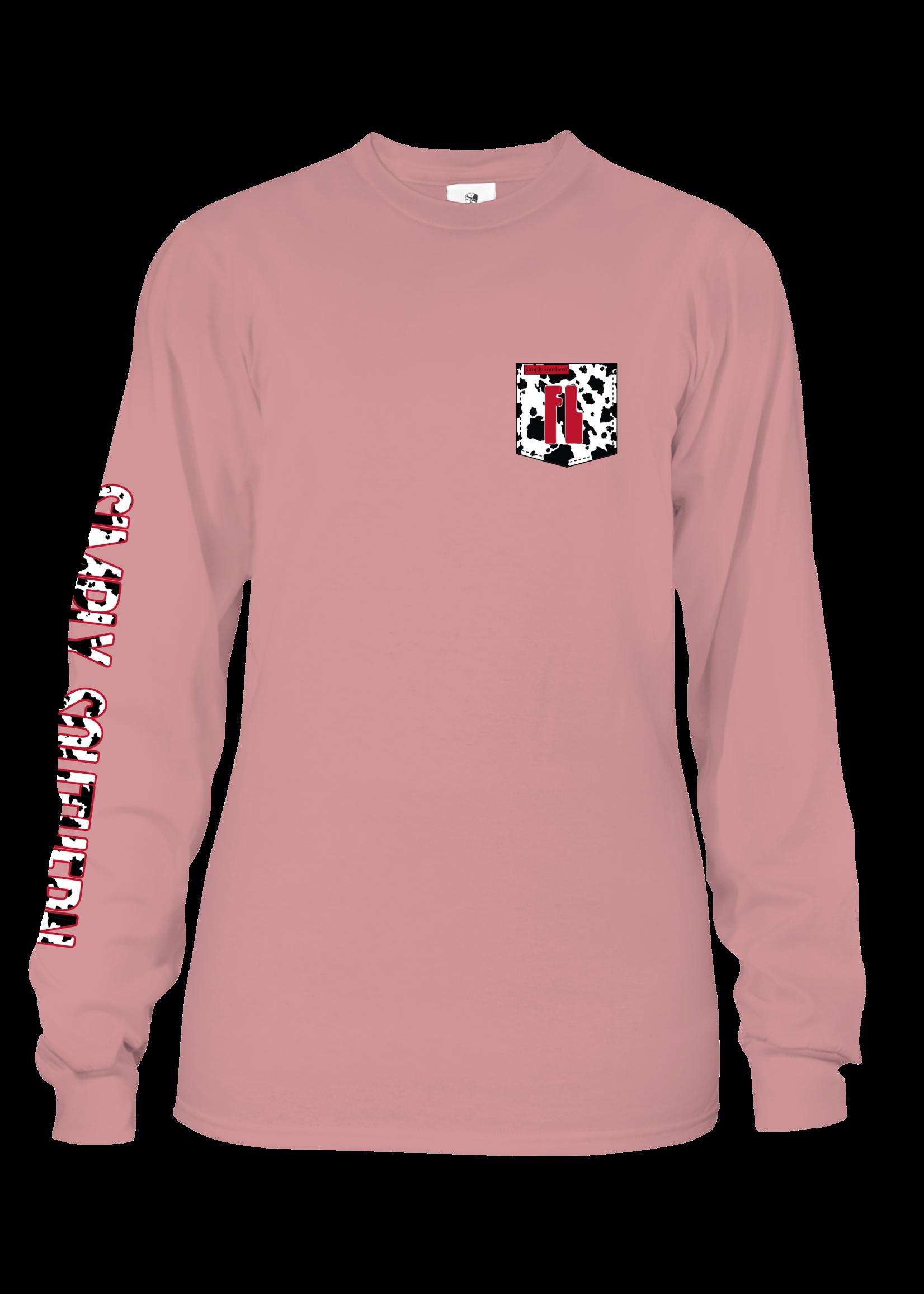 Simply Southern Collection Florida Girl Long Sleeve T-Shirt - Crepe