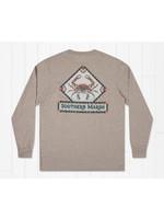 Southern Marsh Mosaic Crab Tee - Long Sleeve