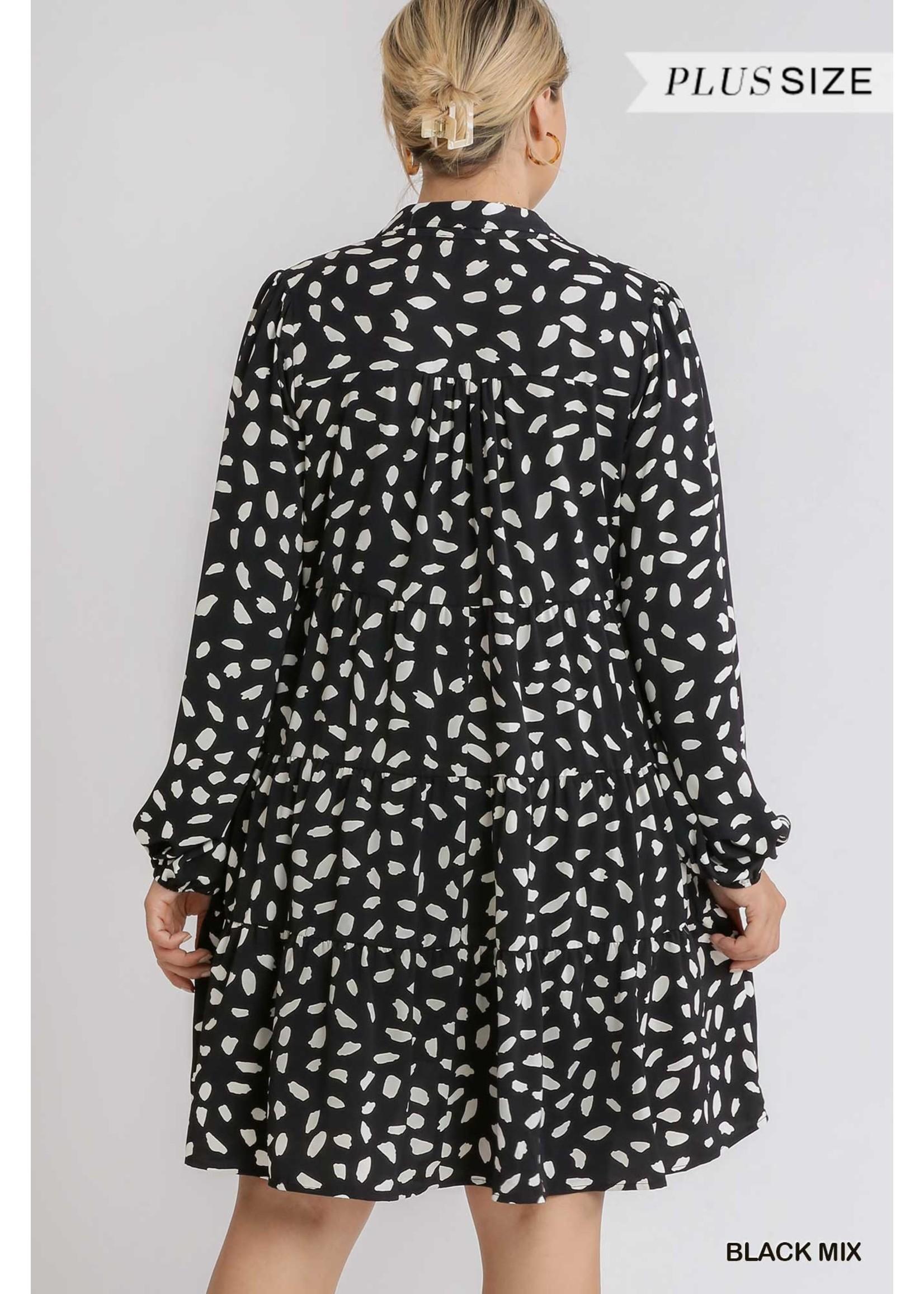 Umgee Animal Print Dress - PLUS