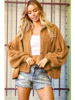 Ces Femme Corduroy Collared Button-down Jacket