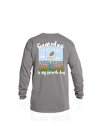 Jane Marie GAMEDAY IS MY FAVORITE DAY LONG SLEEVE T-SHIRT