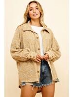 Ces Femme Oversized Shirts Jacket