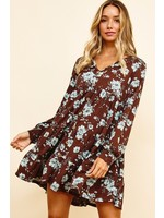 Ces Femme Floral Print Tired Tunic