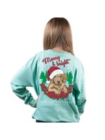 Simply Southern Collection Youth  Merry and Bright  Long Sleeve T-Shirt