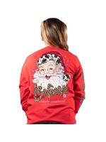 Simply Southern Collection Youth Santa Cow Long Sleeve T-Shirt