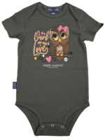 Simply Southern Collection Owl You Need Is Love Onesie - Olive