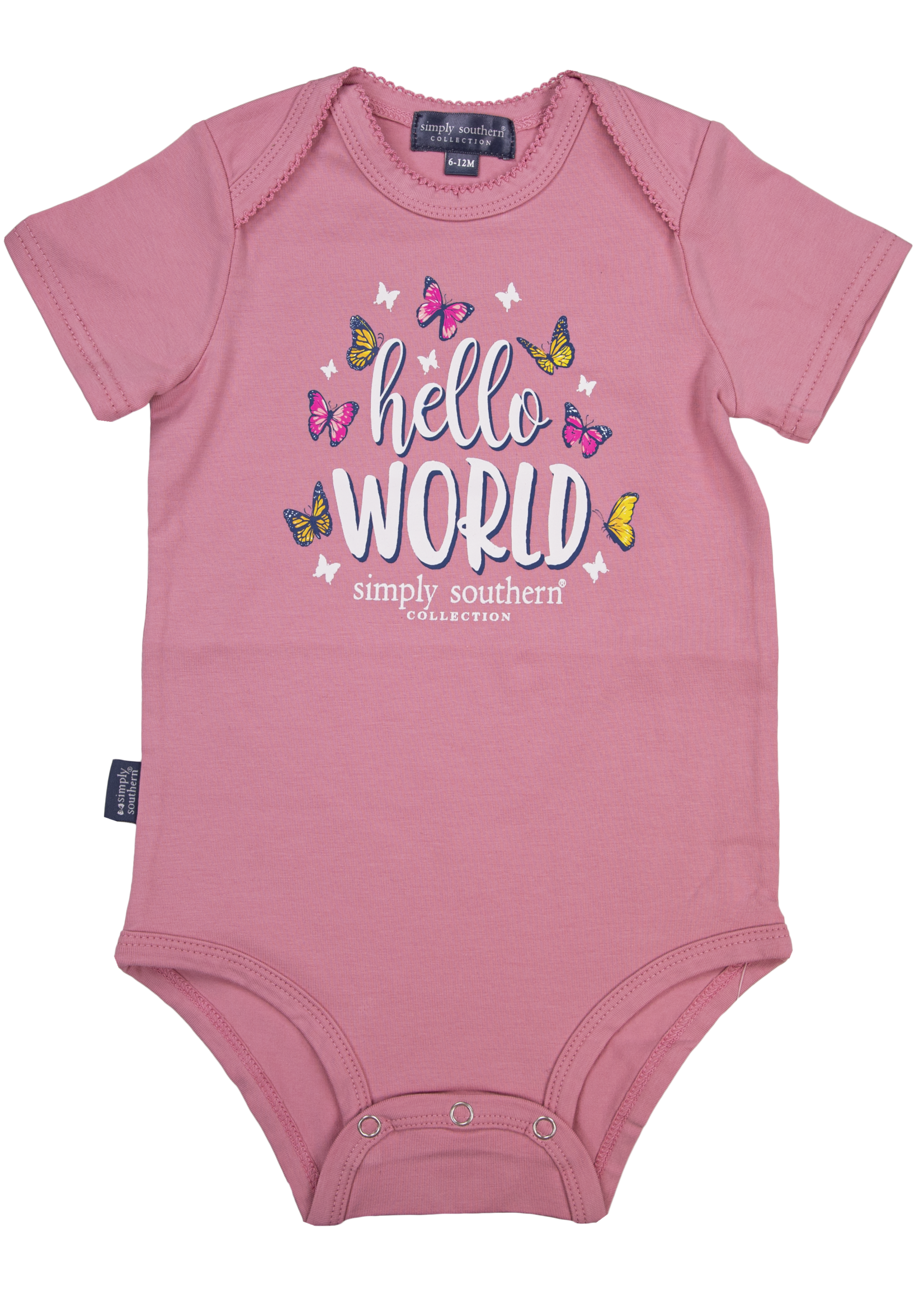 Simply Southern Collection Hello World  Onesie - Pink