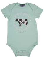 Simply Southern Collection I'll Love You Til The Cows Come Home  Onesie - Seafoam