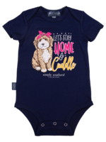 Simply Southern Collection Let's Stay Home and Cuddle Onesie - Navy