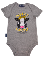 Simply Southern Collection Udderly Adorable Onesie - Heather Grey