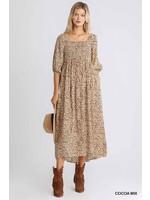 Umgee Animal Print Maxi Dress