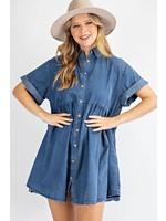 Be Mine Denim Mini Shirt Dress