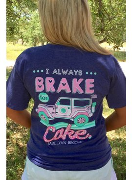 Jadelynn Brooke Jadelynn Brooke Brake For Cake  - V-Neck - Navy