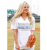 Jadelynn Brooke Baseball is Love (White) - Short Sleeve